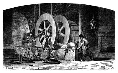 Iron-working Machinery Print by Science Photo Library