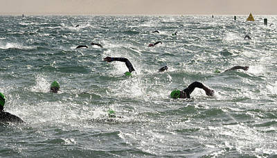 Triathlon Photograph - Ironman 2012 Sheer Determination by Bob Christopher