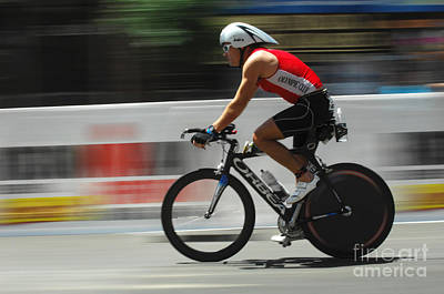 Triathlon Photograph - Ironman Flying by Bob Christopher