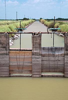 Irrigation Photograph - Irrigation Canal by Jim West