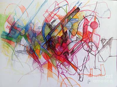 Creativity Drawing - chidushei Torah 1 by David Baruch Wolk