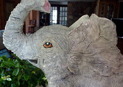 Customcrittersbydeb Sculpture - Is There An Elephant In The Room? by Debbie Limoli