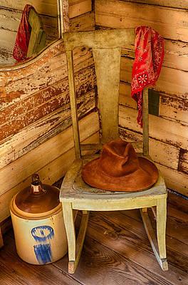 Cowboy Hat Photograph - Is This Chair Taken  by Saija  Lehtonen