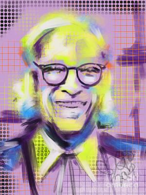 Celeb Painting - Isaac Asimov King Of Sf by Go Van Kampen
