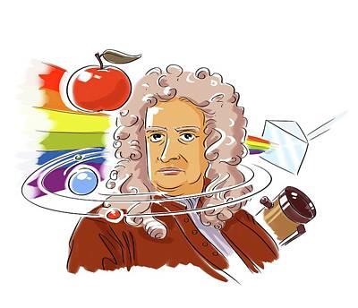 Isaac Newton Print by Harald Ritsch