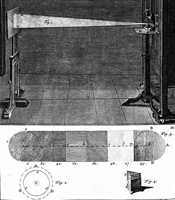 Isaac Newton Photograph - Isaac Newton's Prism Experiment by Universal History Archive/uig