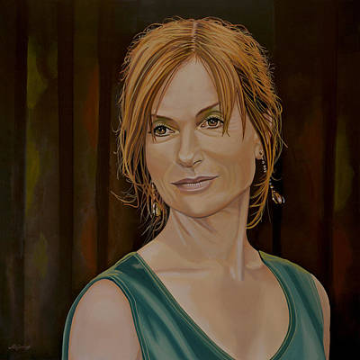 Isabelle Huppert Painting Print by Paul Meijering