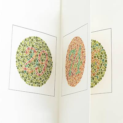 Ishihara Colour Vision Test Charts Print by Science Photo Library