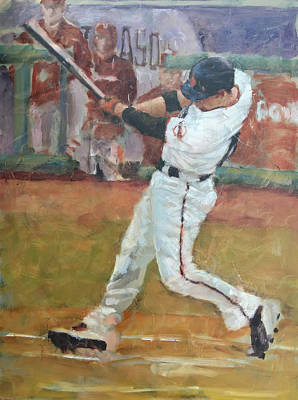 Baseball Painting - Ishikawa Nlcs Shot by Darren Kerr