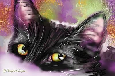 Kitten Digital Art - Isis by Francoise Dugourd-Caput