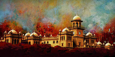 Unesco Painting - Islamia College Lahore by Catf