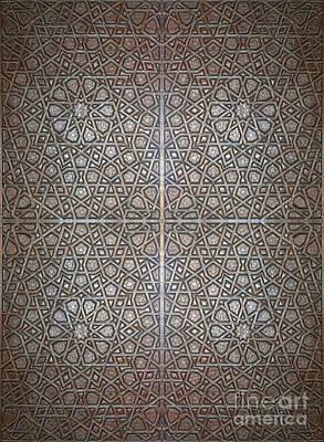 Islamic Wooden Texture Print by Antony McAulay