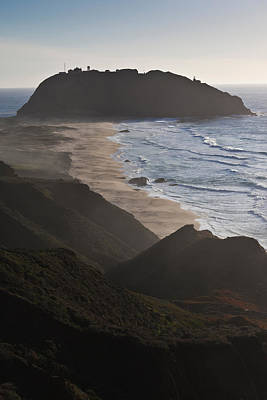 Island In The Pacific Ocean, Point Sur Print by Panoramic Images