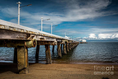 Island Pier Print by Perry Webster