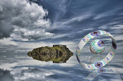 Island Ring And Sphere Print by Steve Purnell