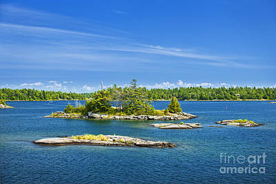 Rock Photograph - Islands In Georgian Bay by Elena Elisseeva