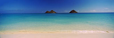 Islands In The Pacific Ocean, Lanikai Print by Panoramic Images
