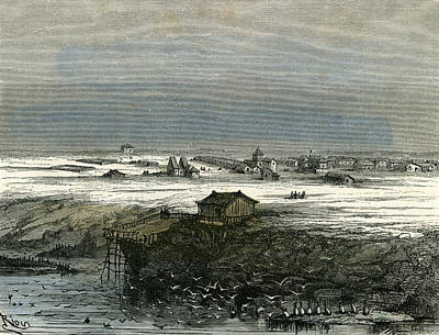 Islay Drawing - Islay Peru 1869 by Peruvian School