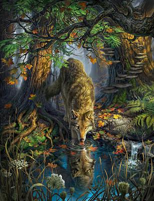 Fallen Leaf Digital Art - Isle Royale Fall by Mark Fredrickson