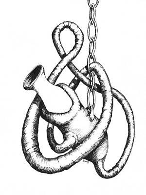 Worm Drawing - Isn't That A Bit Daring by Sam Sidders