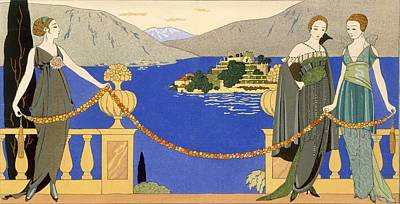 Evening Dress Painting - Isola Bella by Georges Barbier