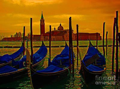 Isola Di San Giorgio Maggiore In Venice Print by Al Bourassa