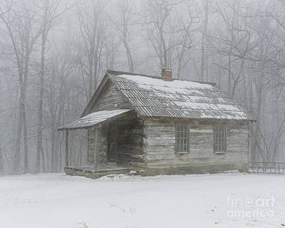 Old Schoolhouse Photograph - Isolated by Anthony Heflin