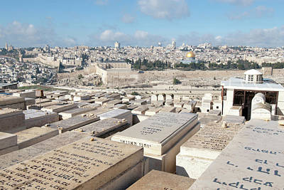 Israel Photograph - Israel, Jerusalem, View Of The Old City by Ellen Clark