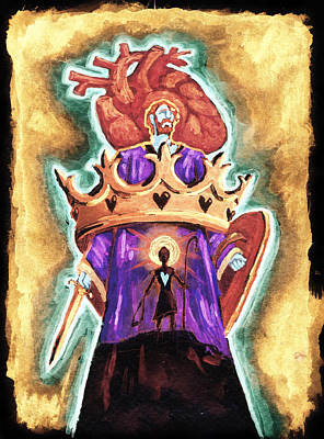Red Head Mixed Media - Israel Receives Her King by David Condry