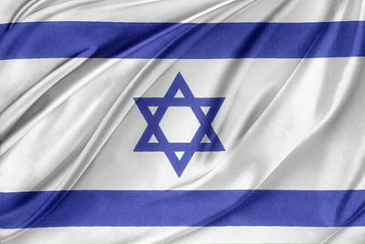 Israeli Flag Print by Les Cunliffe