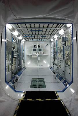 Simulator Photograph - Iss Colombus Simulator by Detlev Van Ravenswaay