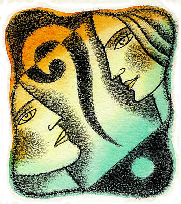 Man And Woman Painting - Issue by Leon Zernitsky