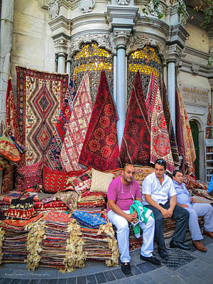 Istanbul Rug Merchants Print by Ross Henton