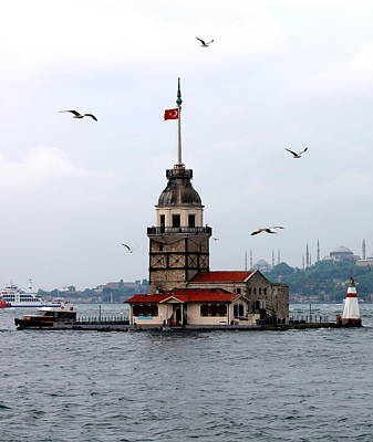 Istanbul Photograph - Istanbul's Maiden Tower by Rebecca Davis