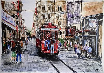Grande Painting - Istiklal Street by Zaira Dzhaubaeva