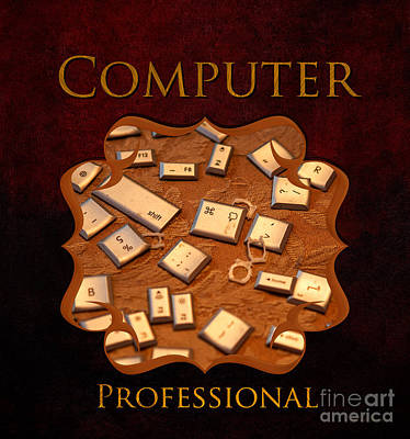 It Computer Professional  Print by Iris Richardson