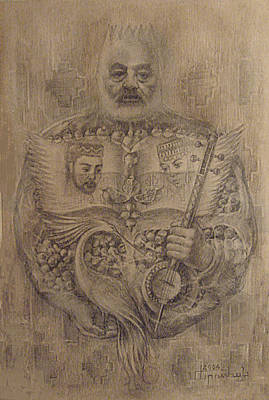 Great Drawing - It Is Devoted To Great Paradzhanov by Meruzhan Khachatryan