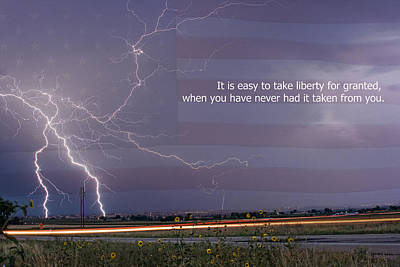 It Is Easy To Take Liberty For Granted Print by James BO  Insogna
