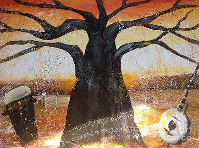 Baobab Painting - It Is Music by Fania Simon