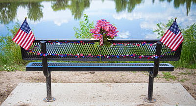 Bench Photograph - It Is My Honor American Patriotic View by James BO  Insogna