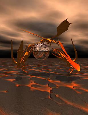 Dragon Digital Art - It 's Mine by Claude McCoy