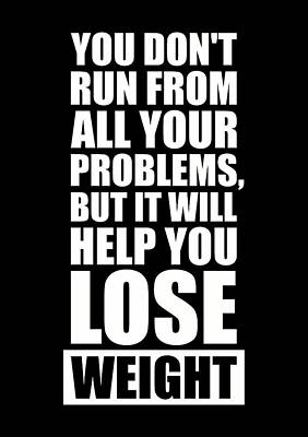 It Will Help You Lose Weight Gym Workout Quotes Poster Print by Lab No 4 - The Quotography Department