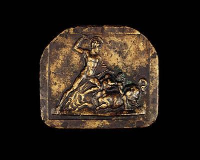 Centaur Drawing - Italian 18th Century, A Warrior Fighting A Centaur by Quint Lox