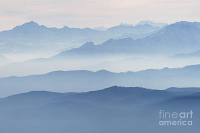Nature Photograph - Italian Alps In The Mist by Matteo Colombo