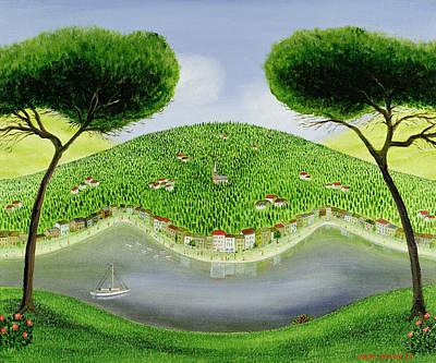 Edge Painting - Italian Bay by Mark Baring