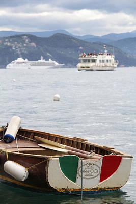 Portofino Photograph - Italian Boats by Nancy Ingersoll