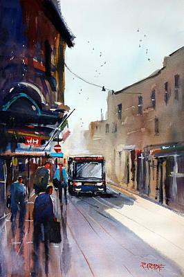 Bus Painting - Italian Bus Stop by Ryan Radke