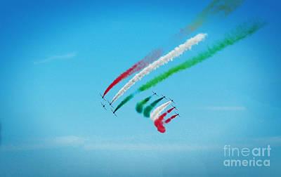 Italian Frecce Tricolori Aerobatics Team Original by Stefano Senise