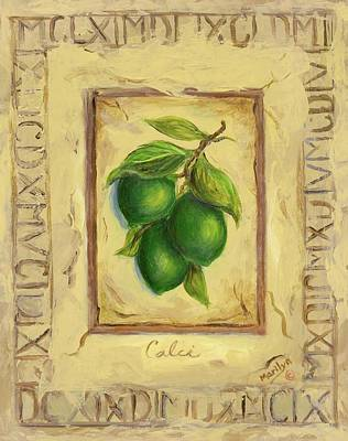 Fruit Painting - Italian Fruit Limes by Marilyn Dunlap