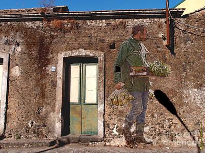 Sicily Digital Art - Italian Graffiti - Day By Day 02 by Renato Ventura